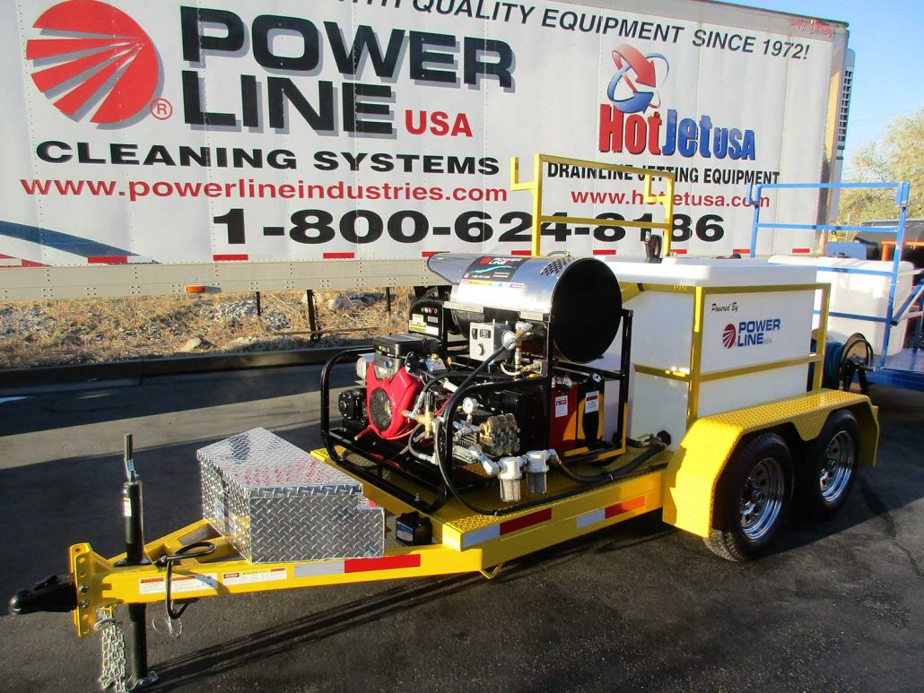 Pressure Washer Trailer Mounted 23HP HD23 Power Wash Trailer